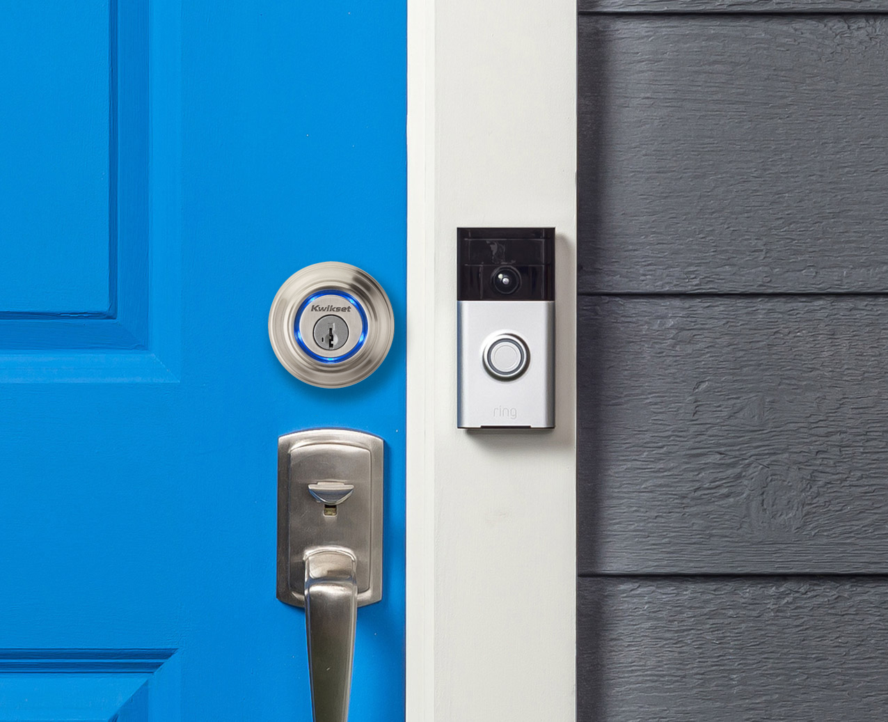 Kwikset Kevo Smart Lock Now Works With Ring Video Doorbell - Kwikset Locks Smart Security Blog : kwikset door - pezcame.com